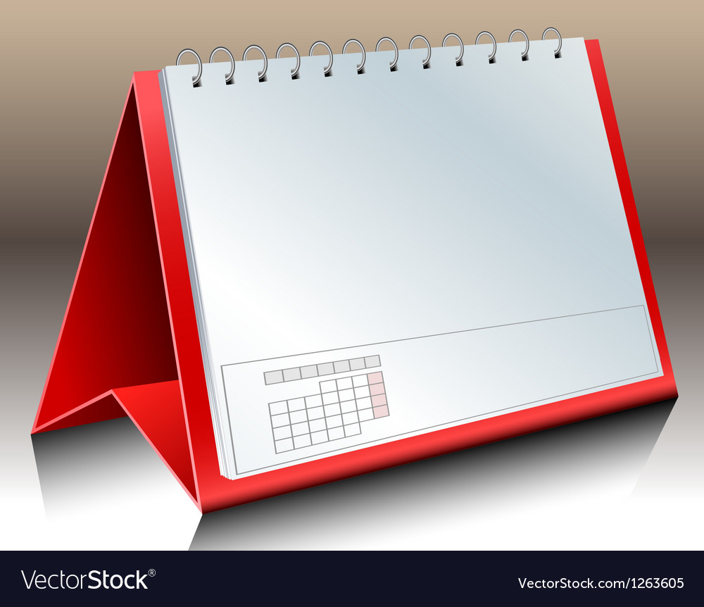 Blank desk calendar vector | Price: 1 Credit (USD $1)