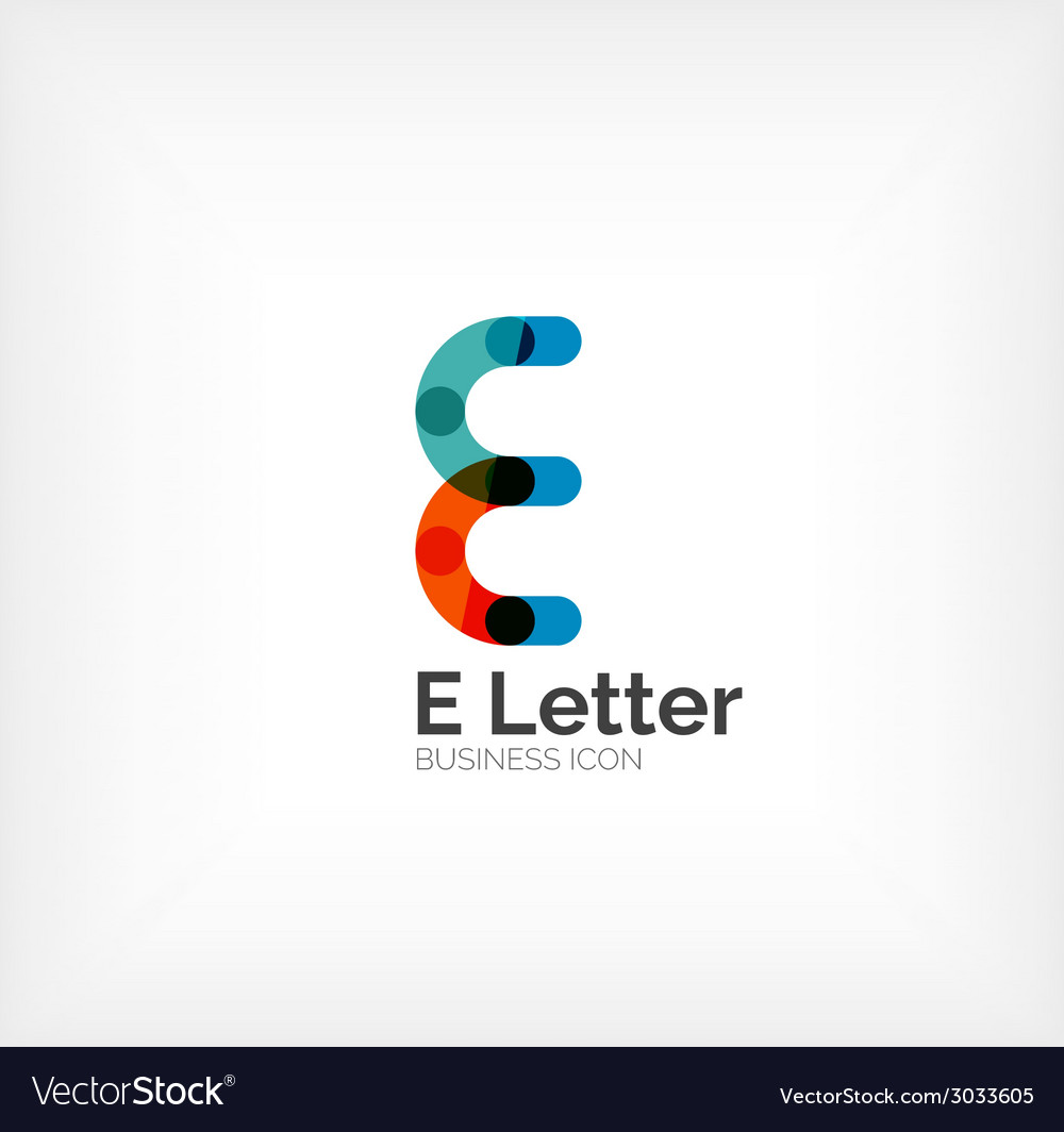E letter logo minimal line design vector | Price: 1 Credit (USD $1)
