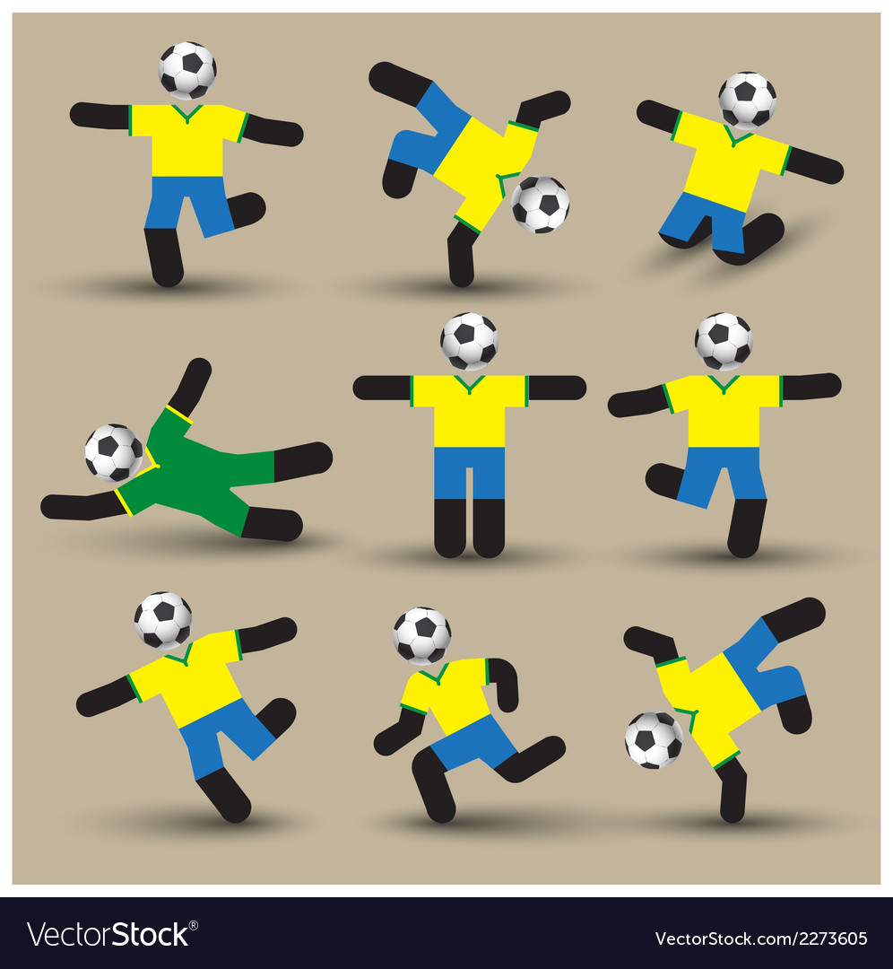 Football players silhouettes use for soccer sport vector | Price: 1 Credit (USD $1)