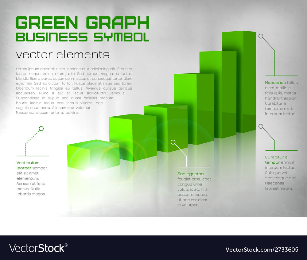 Graph green text vector | Price: 1 Credit (USD $1)