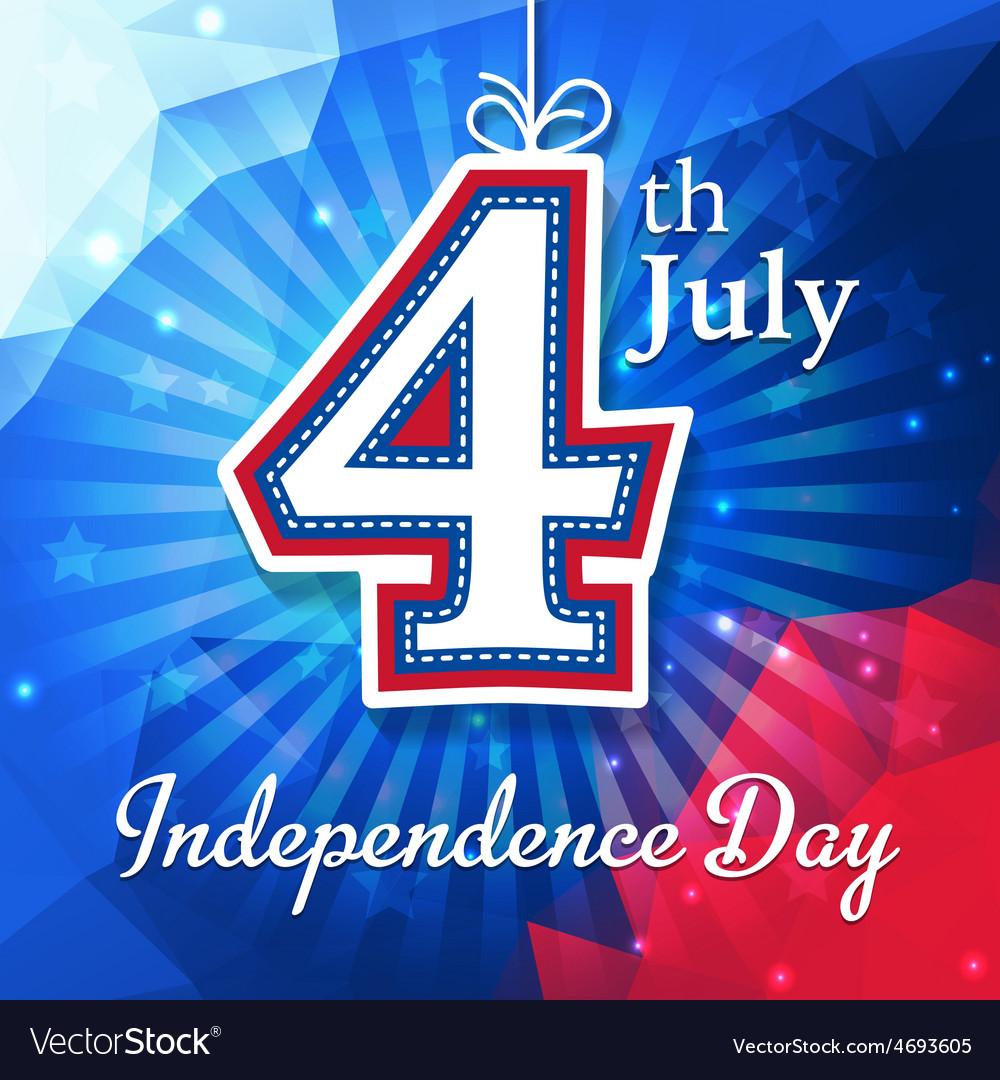 Independence day card vector | Price: 1 Credit (USD $1)