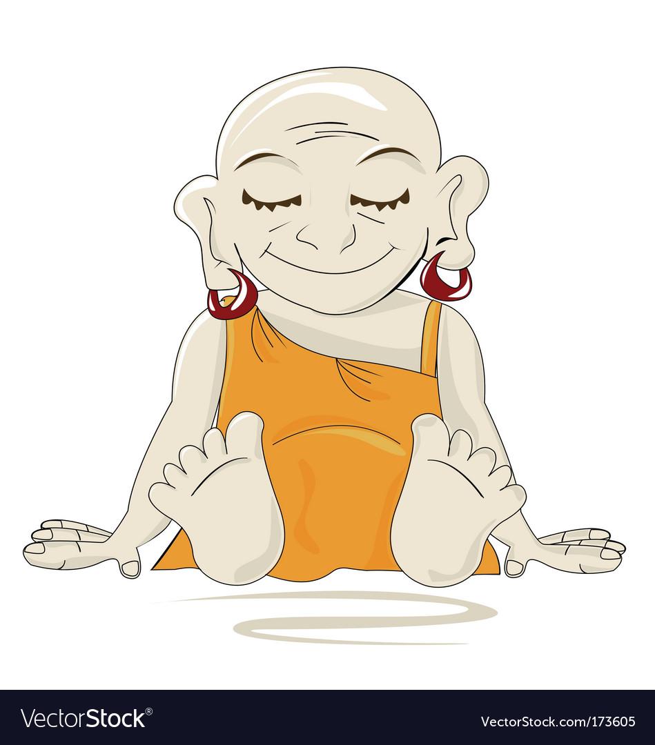 Little buddha vector | Price: 1 Credit (USD $1)
