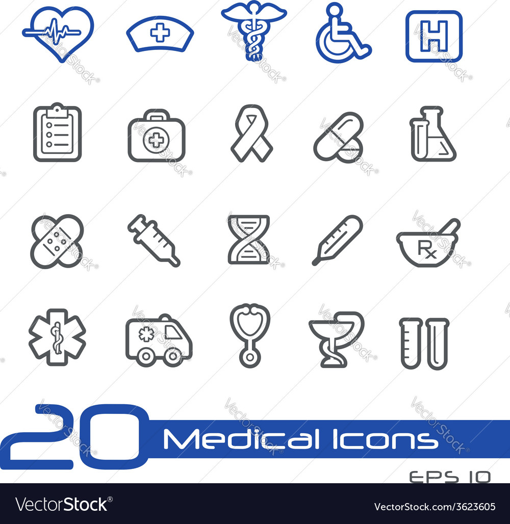 Medicine health care outline series vector | Price: 1 Credit (USD $1)