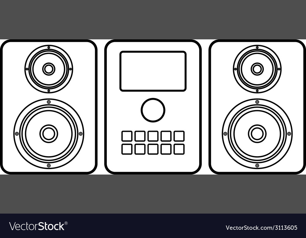 Music center icon vector | Price: 1 Credit (USD $1)