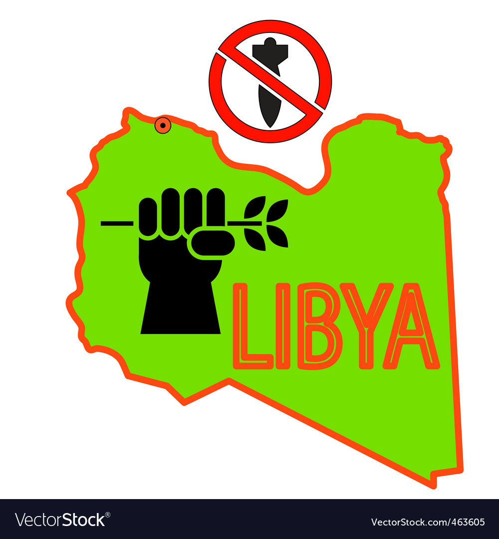 Stop military operations in libya vector | Price: 1 Credit (USD $1)