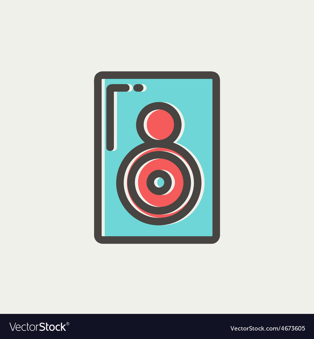 Two way audio speaker thin line icon vector | Price: 1 Credit (USD $1)
