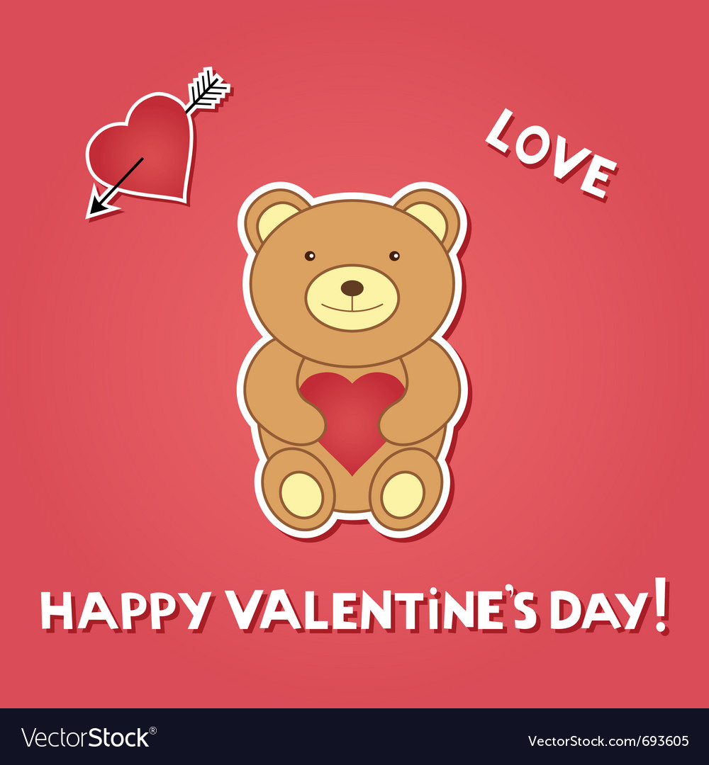 Valentine teddy vector | Price: 1 Credit (USD $1)