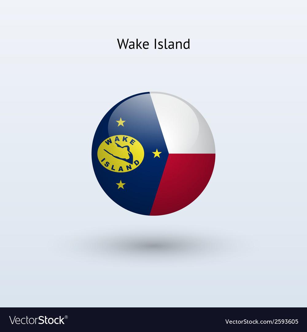Wake island round flag vector   Price: 1 Credit (USD $1)