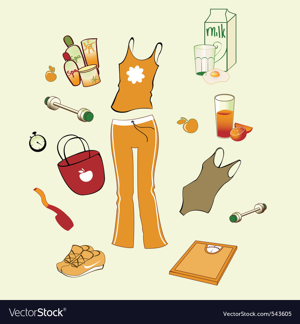 Womans health lifestyle vector | Price: 1 Credit (USD $1)