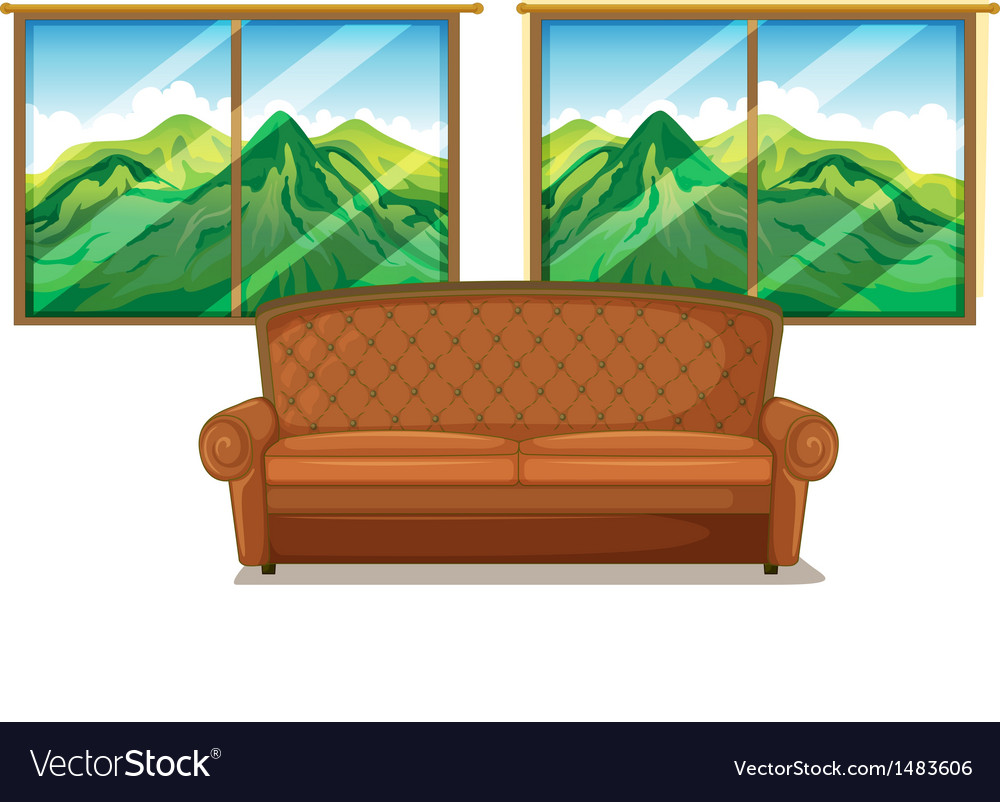 A sofa near the window vector | Price: 1 Credit (USD $1)