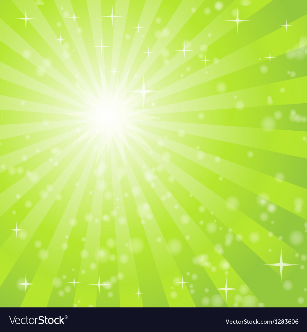 Abstract background with green light rays vector | Price: 1 Credit (USD $1)