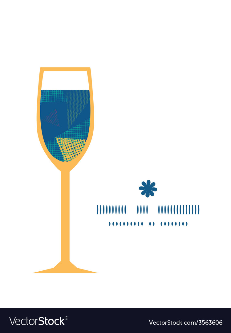 Abstract fabric triangles wine glass silhouette vector | Price: 1 Credit (USD $1)