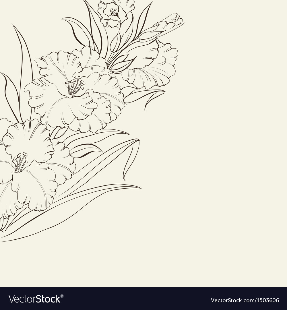Beautiful fresh iris flowers vector | Price: 1 Credit (USD $1)