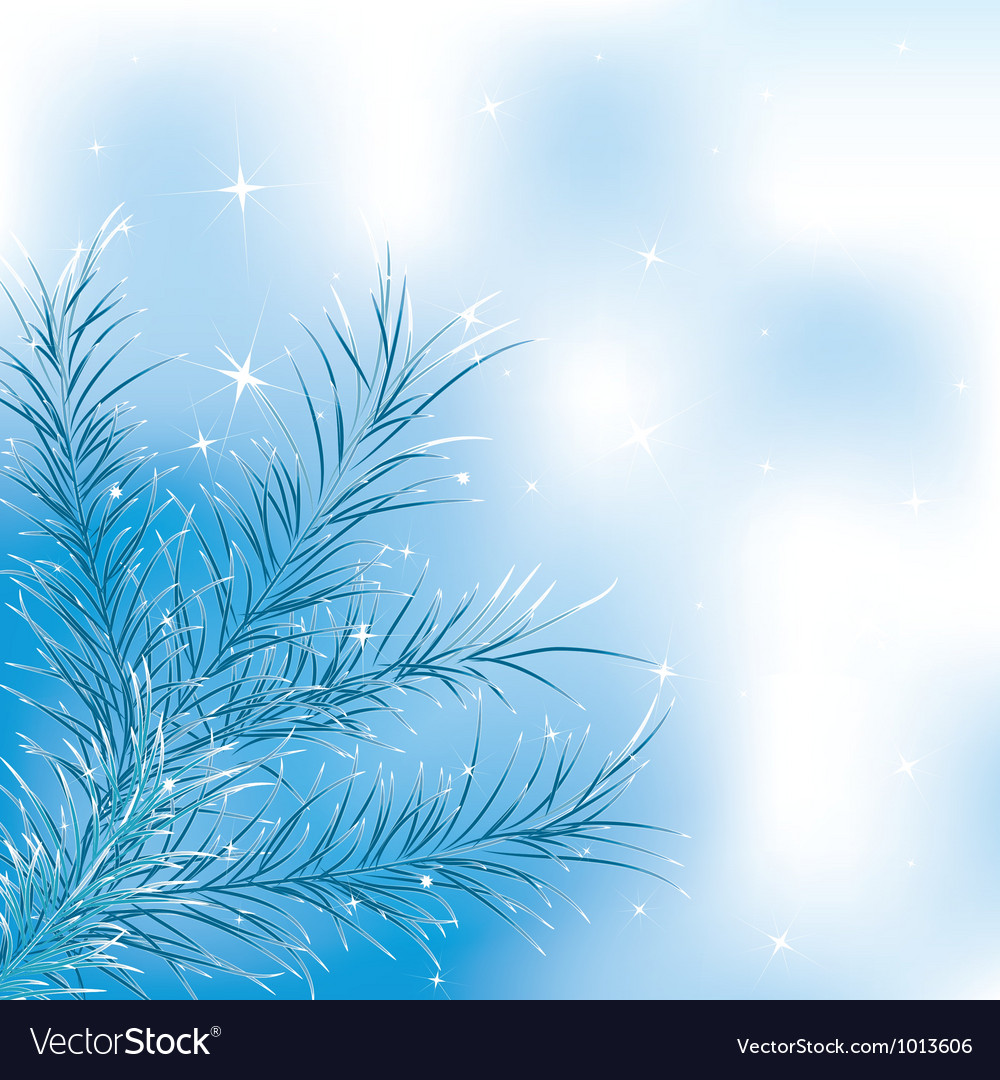 Blue xmass tree vector | Price: 1 Credit (USD $1)