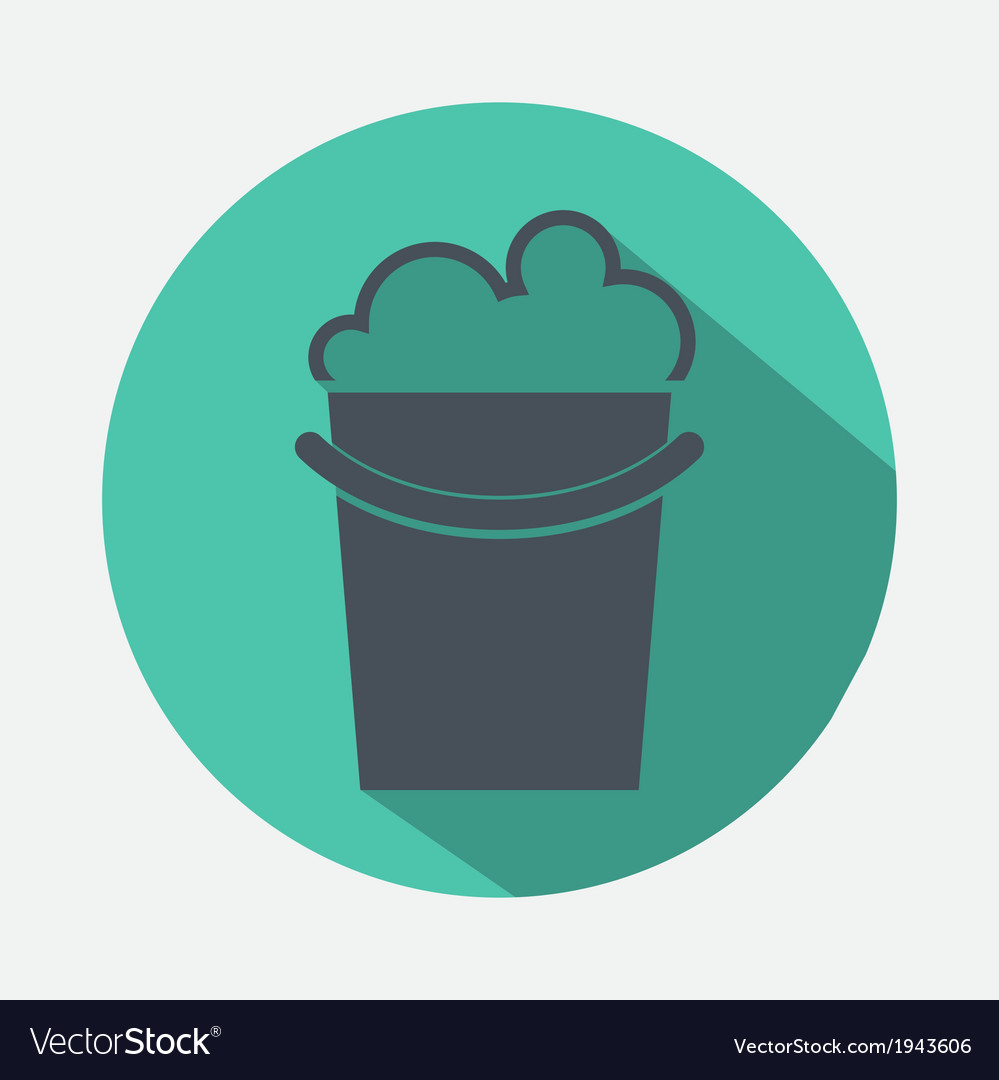 Bucket with detergent icon vector | Price: 1 Credit (USD $1)