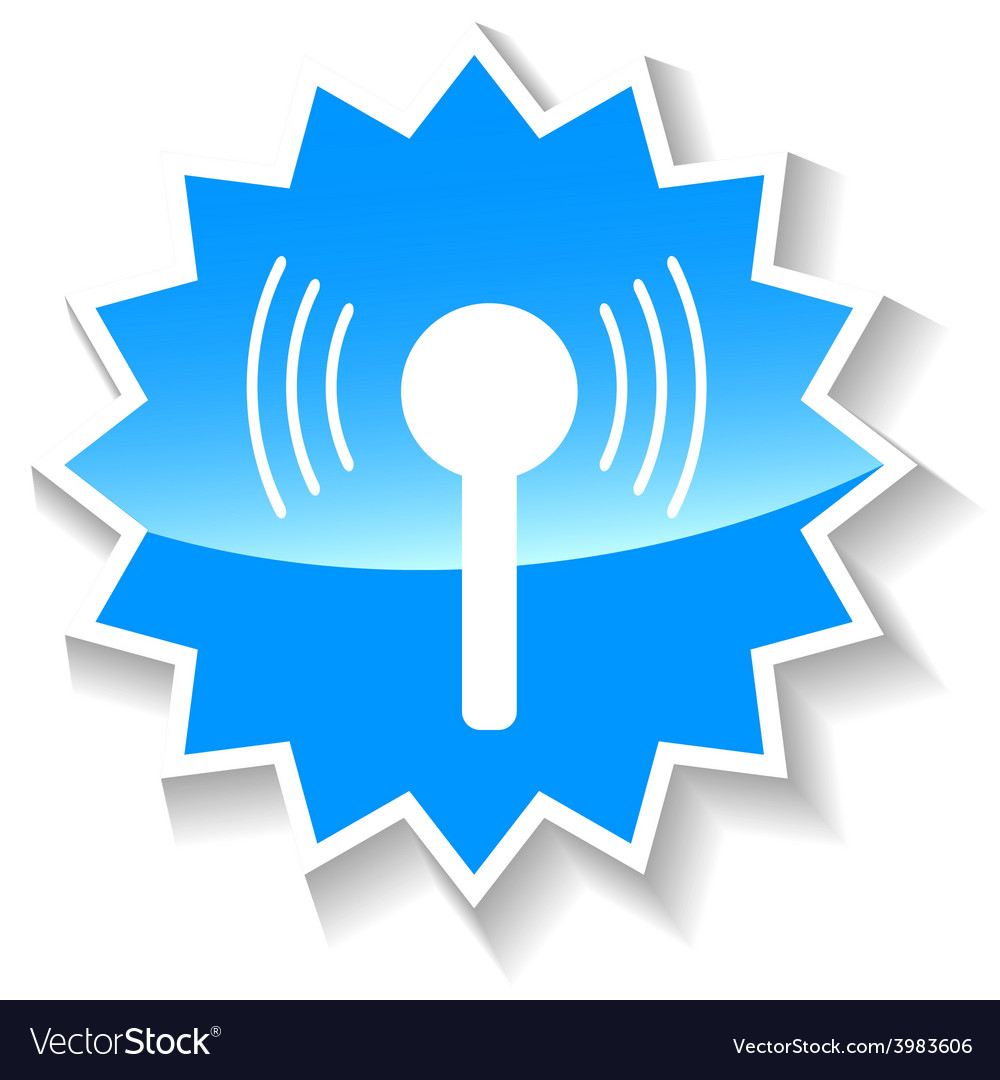 Connection blue icon vector | Price: 1 Credit (USD $1)