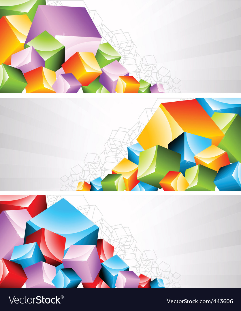 Geometric banners vector | Price: 1 Credit (USD $1)