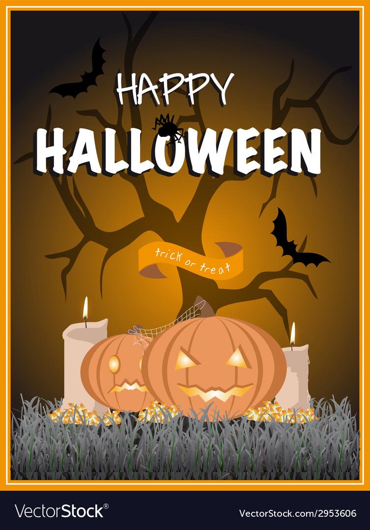 Halloween poster vector | Price: 1 Credit (USD $1)