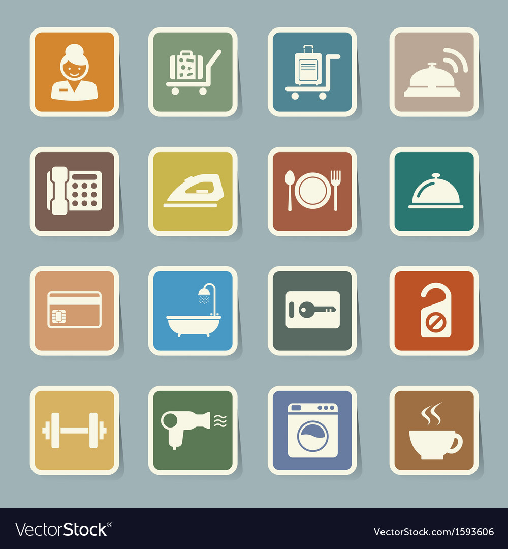 Hotel and travel icon set vector | Price: 1 Credit (USD $1)