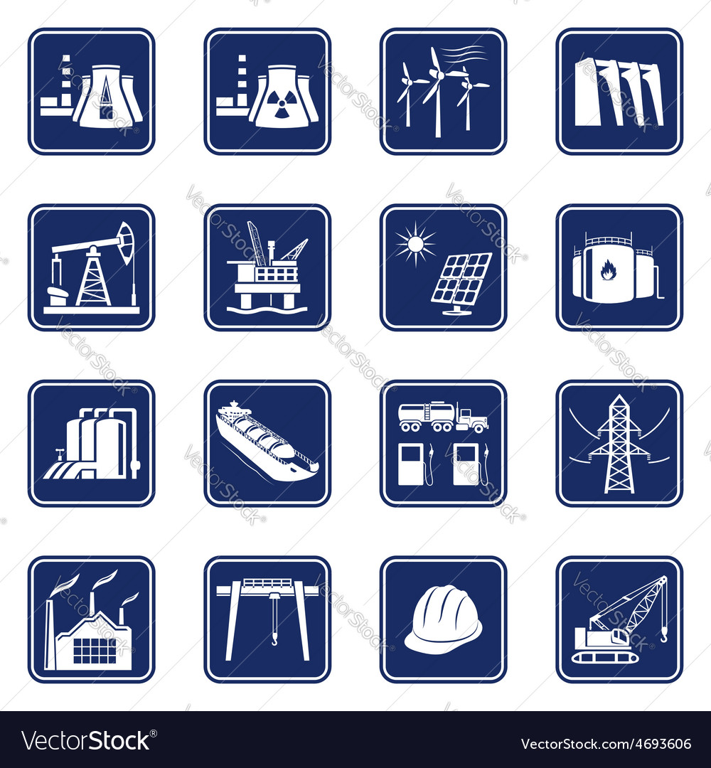 Industrial icons set vector   Price: 1 Credit (USD $1)