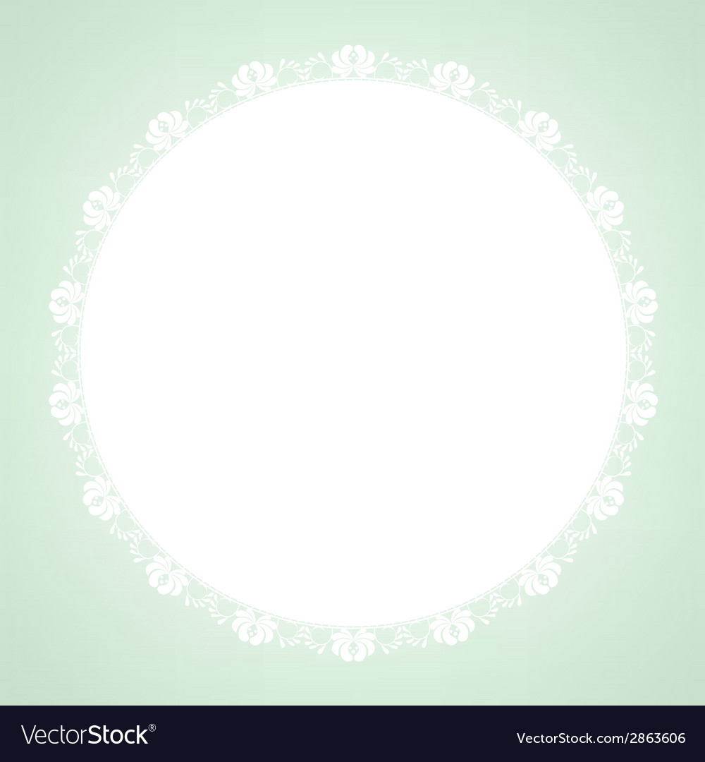 Lace doily on green background vector | Price: 1 Credit (USD $1)