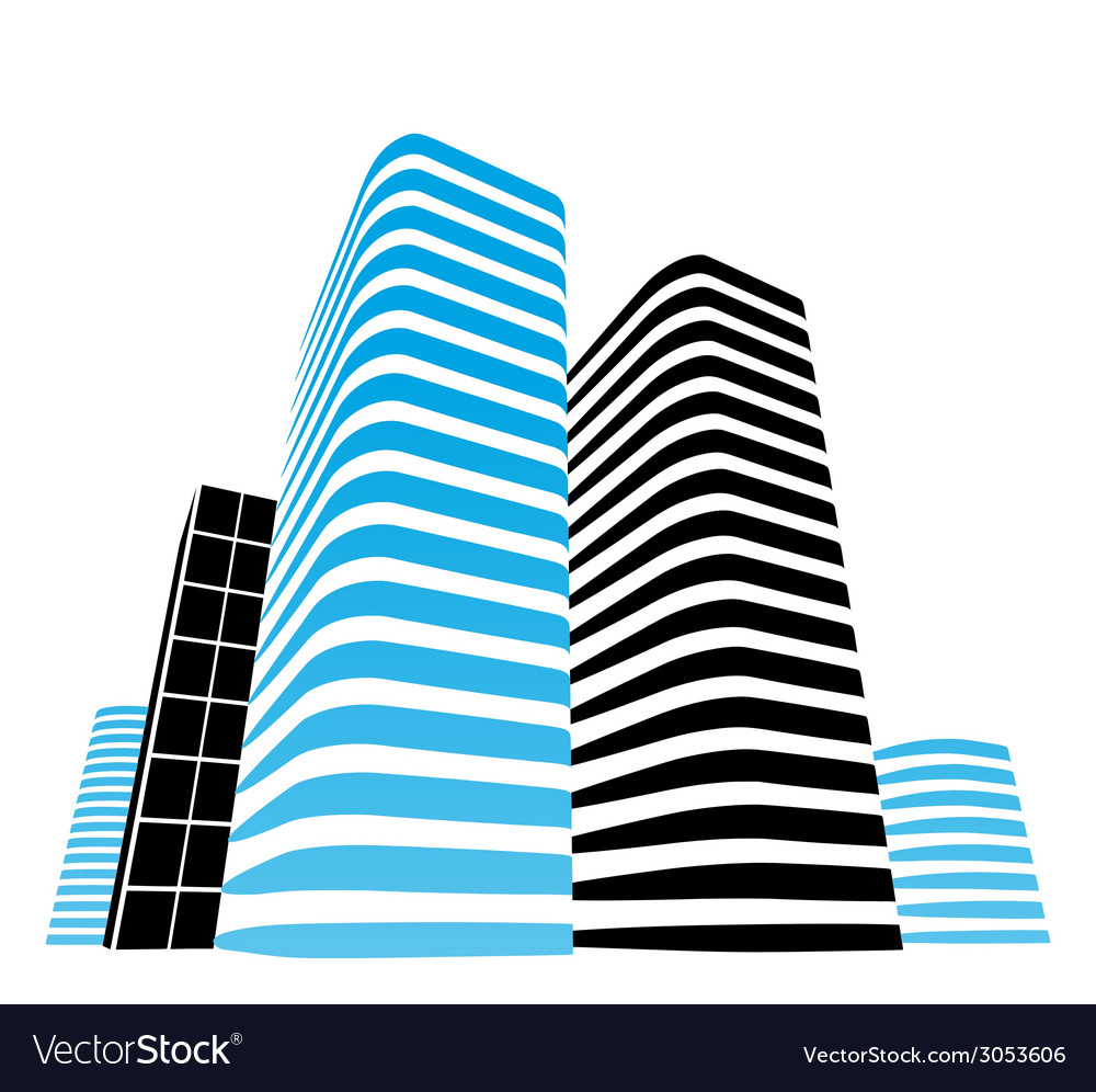 Office buildings vector | Price: 1 Credit (USD $1)