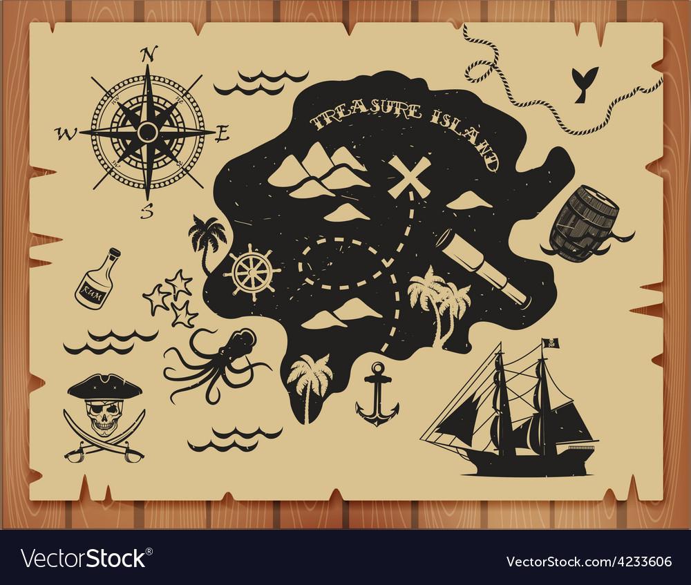 Pirate set vector | Price: 1 Credit (USD $1)