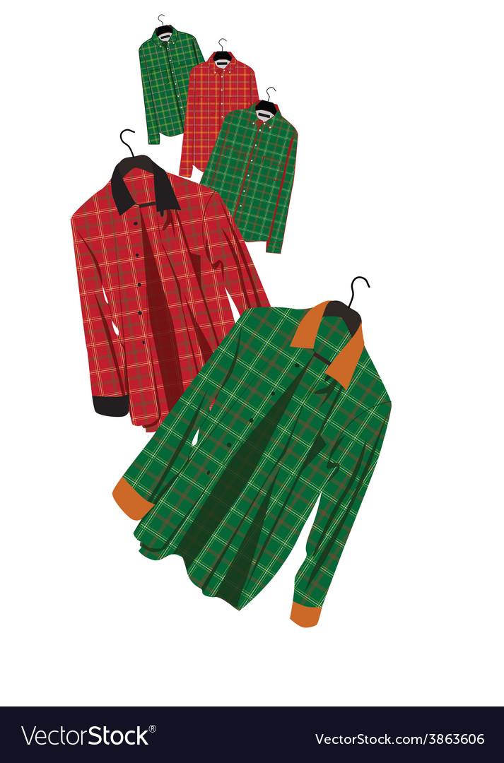 Plaid shirt vector | Price: 1 Credit (USD $1)