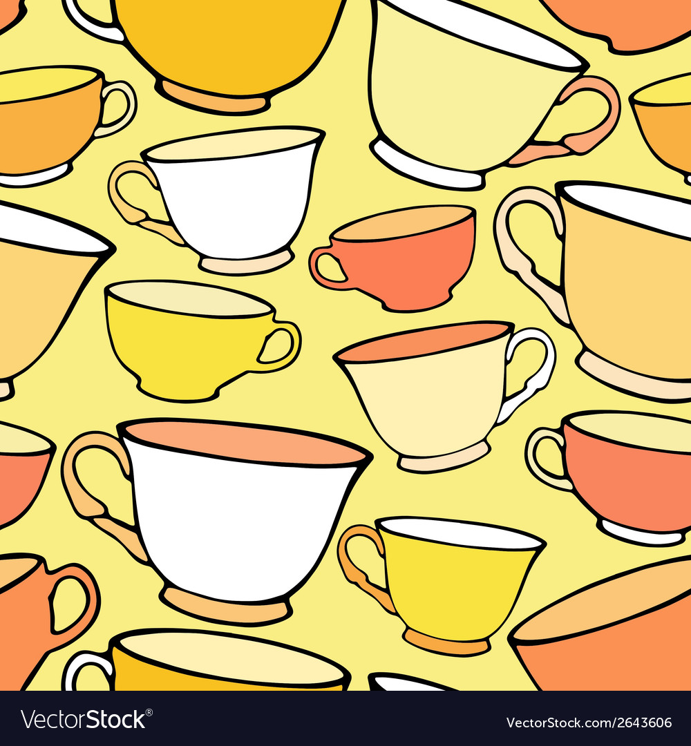 Seamless pattern with bright colorful cups vector | Price: 1 Credit (USD $1)