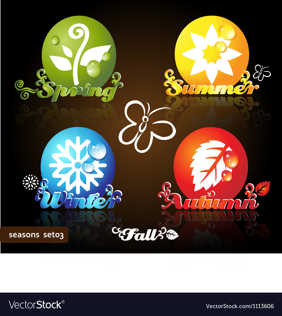 Seasons icons vector | Price: 1 Credit (USD $1)