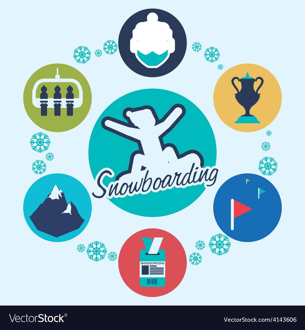 Snowboarding design vector | Price: 1 Credit (USD $1)