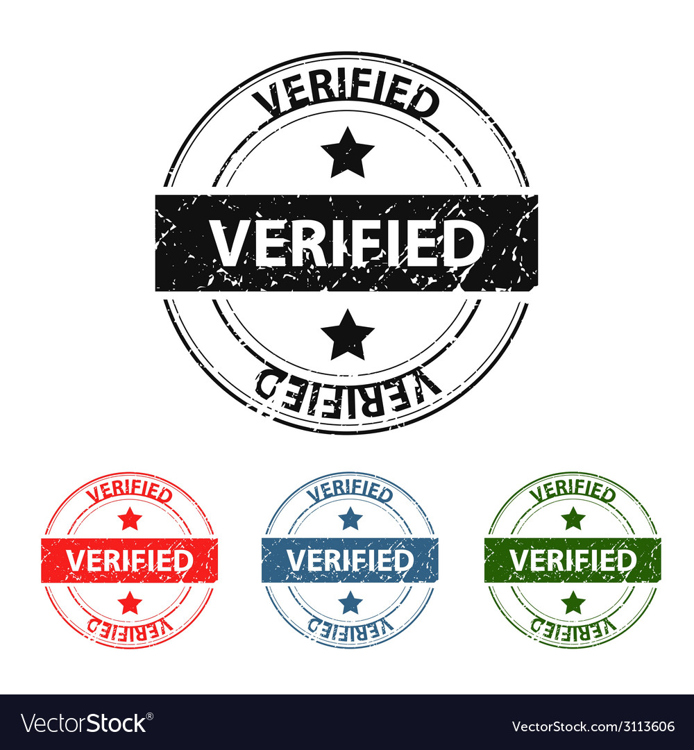 Verified grunge stamp vector | Price: 1 Credit (USD $1)