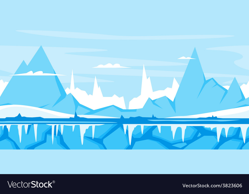 Winter mountain game background vector | Price: 3 Credit (USD $3)
