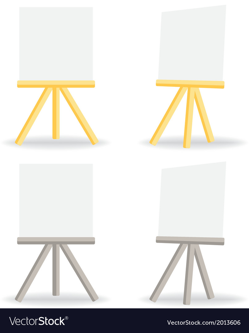 Wooden easel drawing board vector | Price: 1 Credit (USD $1)
