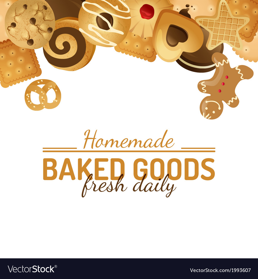 Background with cookies vector | Price: 1 Credit (USD $1)