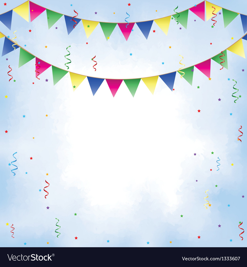 Bunting confetti serpentine vector | Price: 1 Credit (USD $1)