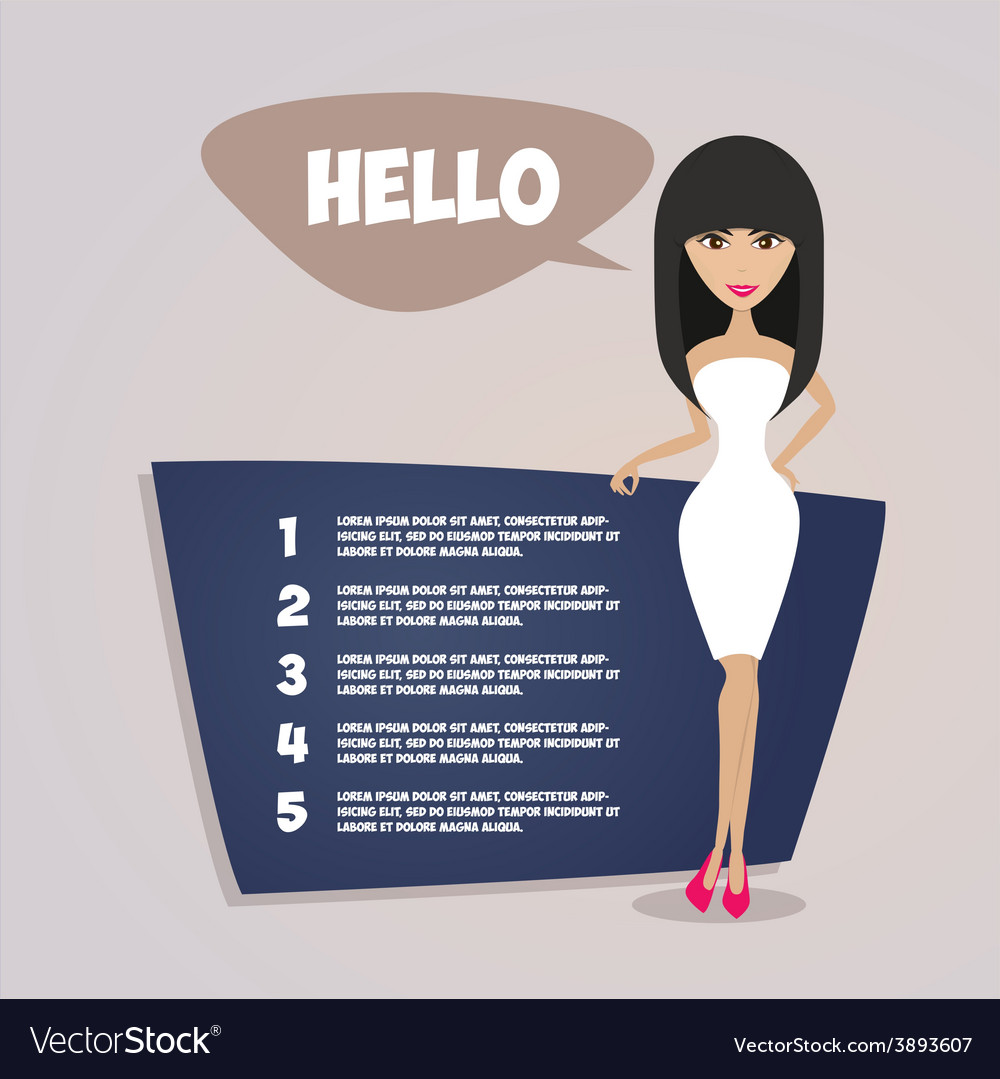 Business woman presentation retro style vector   Price: 1 Credit (USD $1)