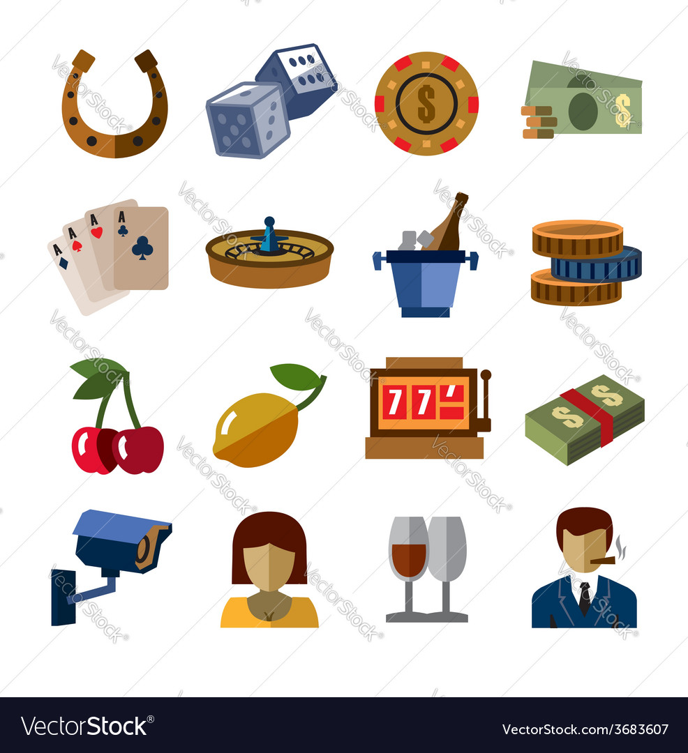 Casino icons vector | Price: 1 Credit (USD $1)