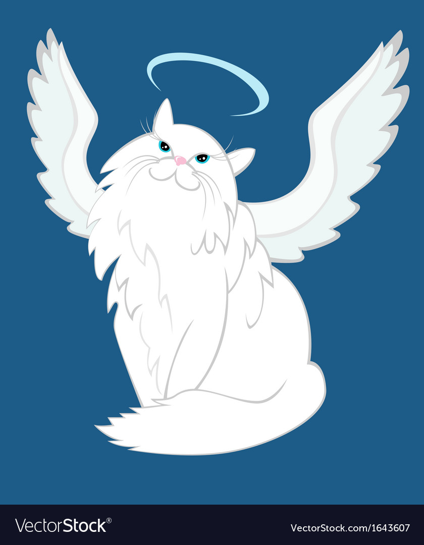 The cat of angelic nature vector | Price: 1 Credit (USD $1)