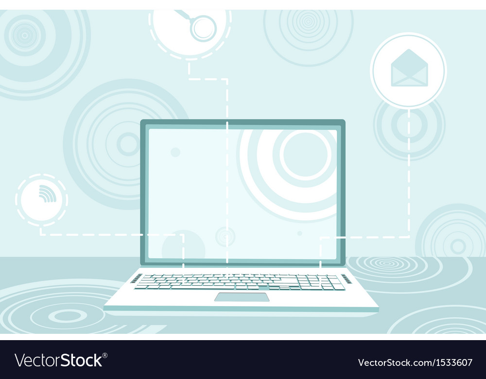 Contemporary desktop vector | Price: 1 Credit (USD $1)
