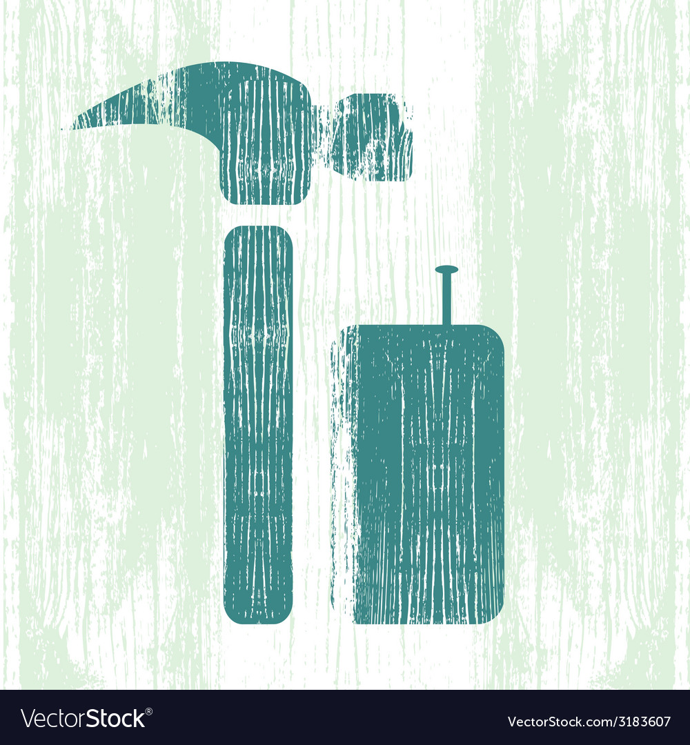 Hammer and nails vector | Price: 1 Credit (USD $1)