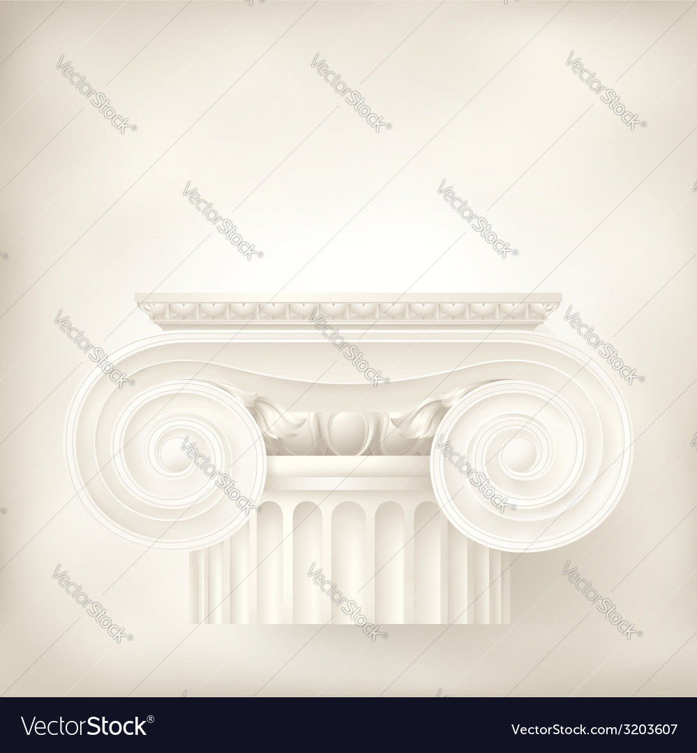 Ionic capital vector | Price: 1 Credit (USD $1)
