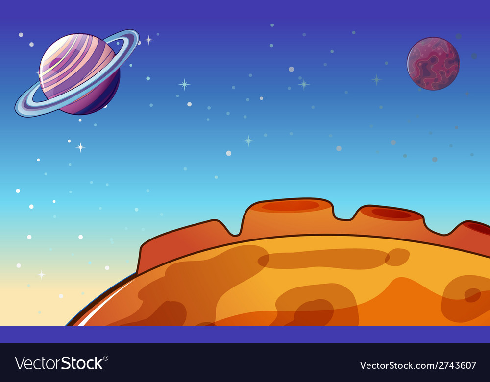 Planets in the outerspace vector | Price: 3 Credit (USD $3)