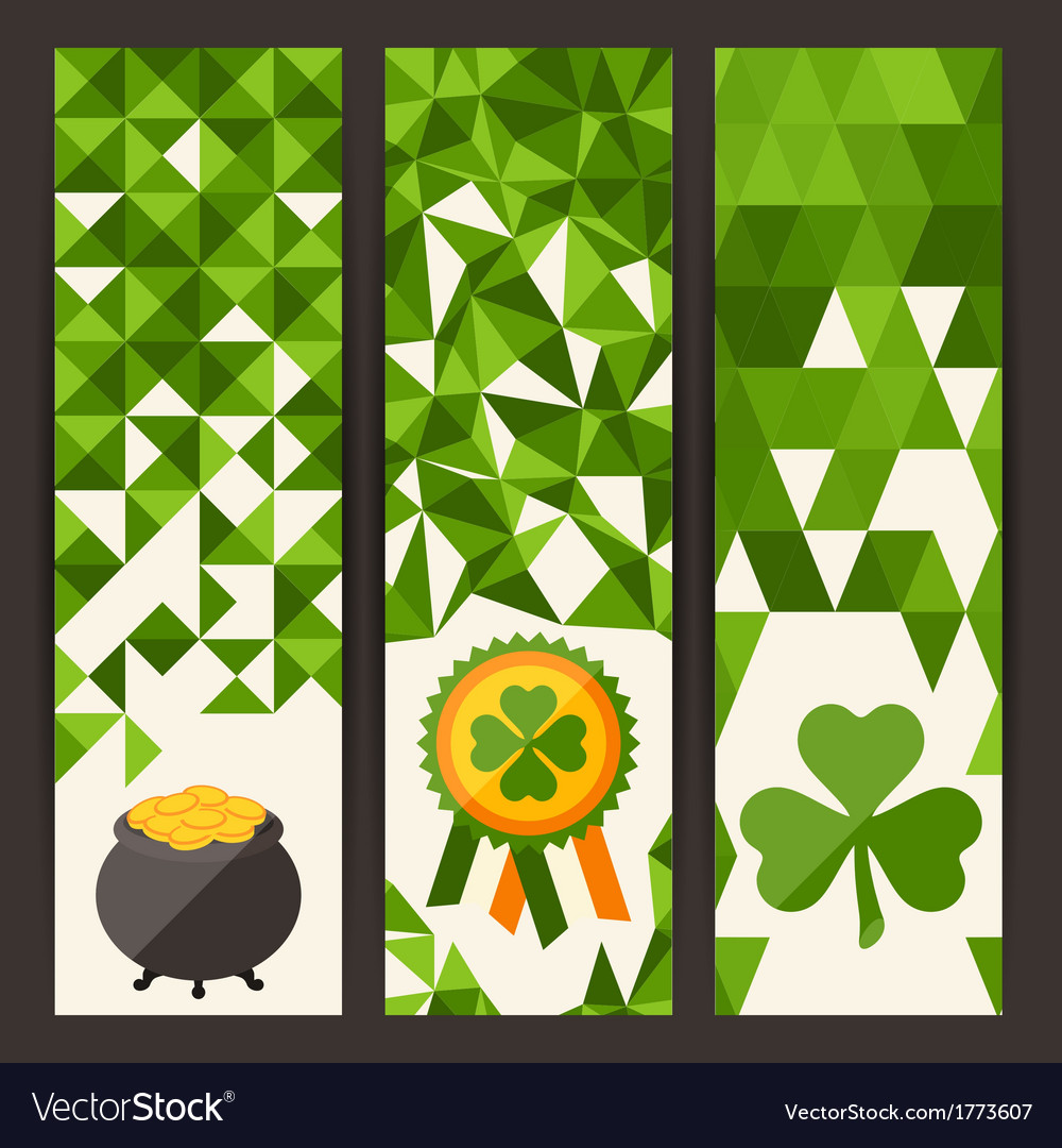Saint patricks day vertical banners vector | Price: 1 Credit (USD $1)