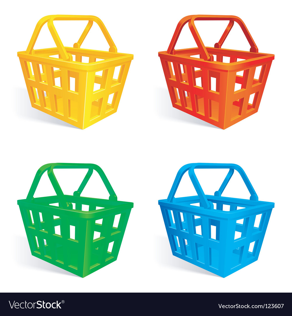 Shopping baskets vector | Price: 1 Credit (USD $1)