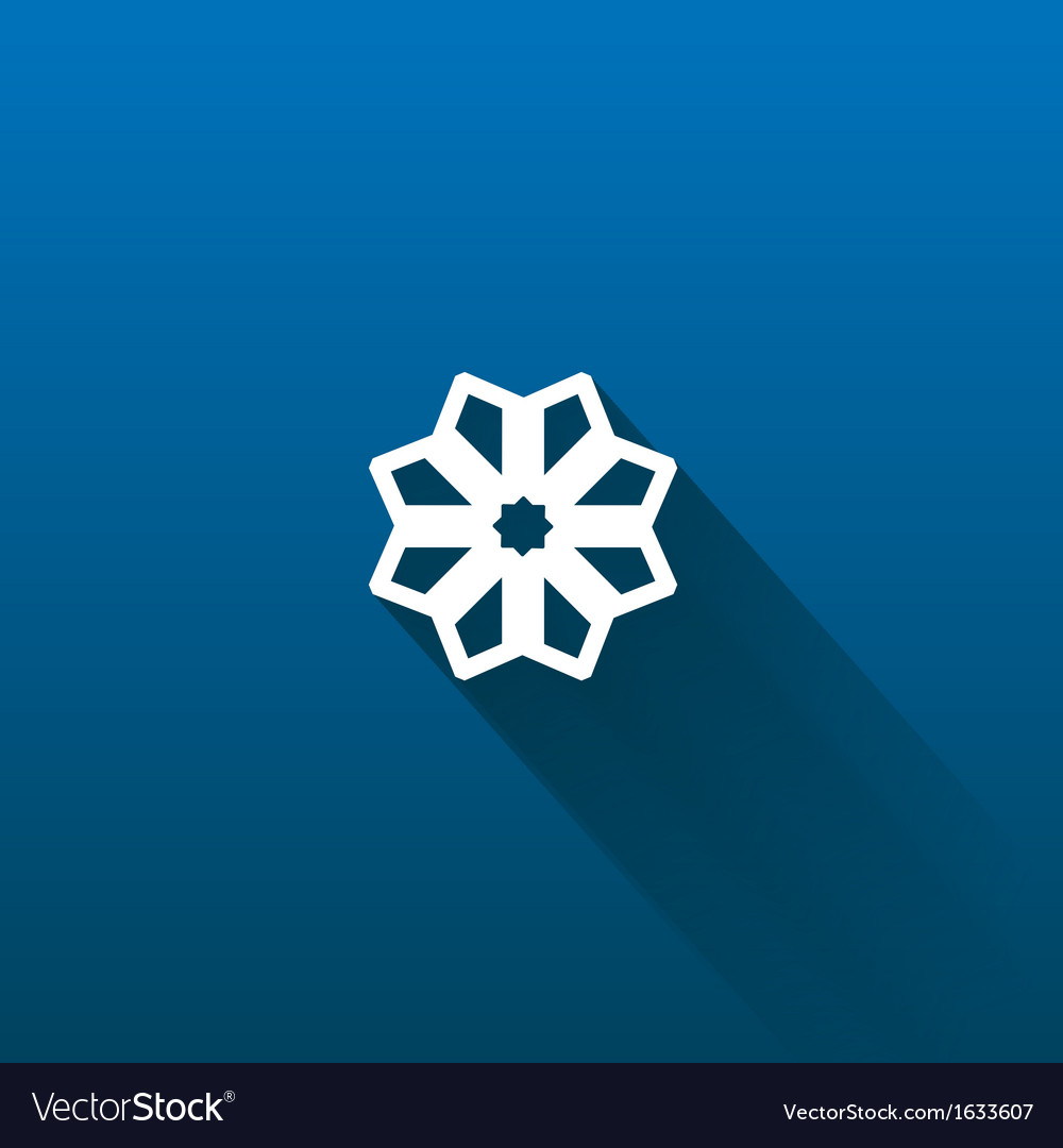 Snow flake isolated on dark vector | Price: 1 Credit (USD $1)