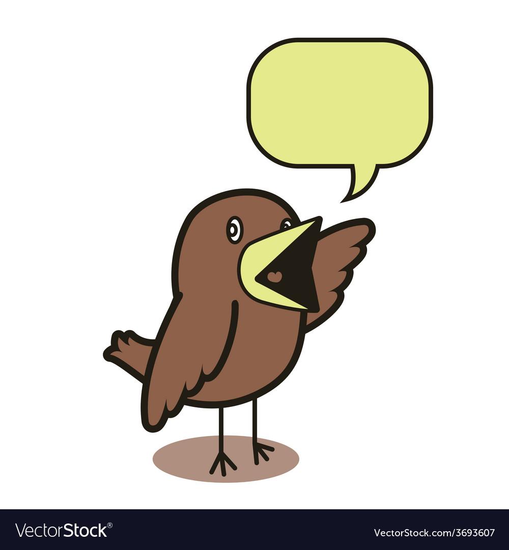 Talking bird 01 vector | Price: 1 Credit (USD $1)