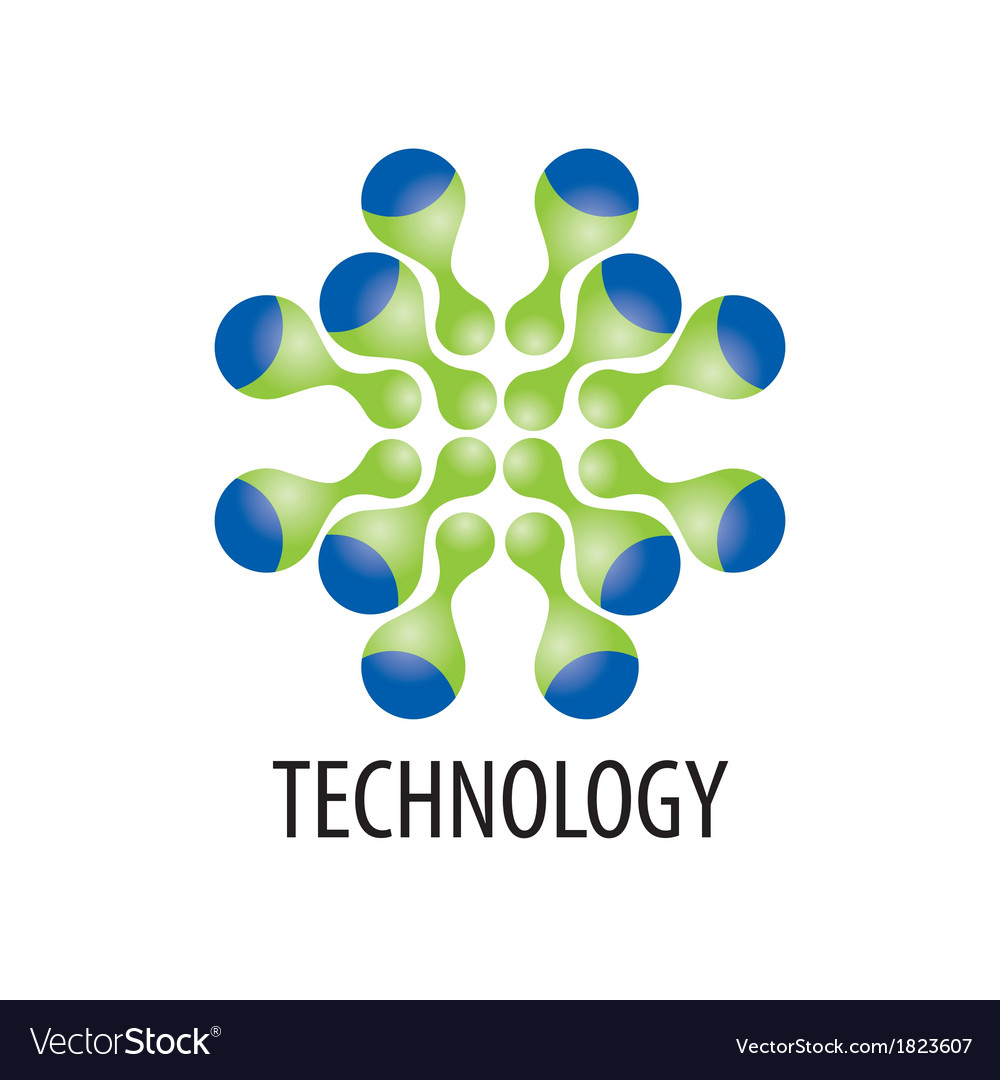 Technology logo in the form of atoms vector | Price: 1 Credit (USD $1)