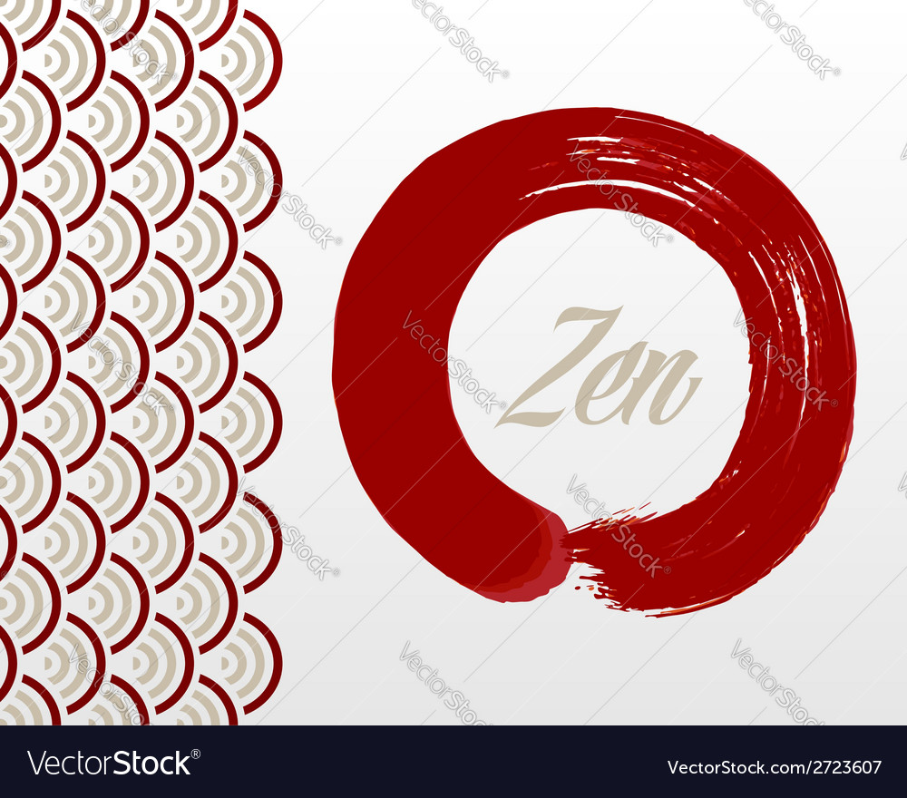 Zen circle background vector | Price: 1 Credit (USD $1)