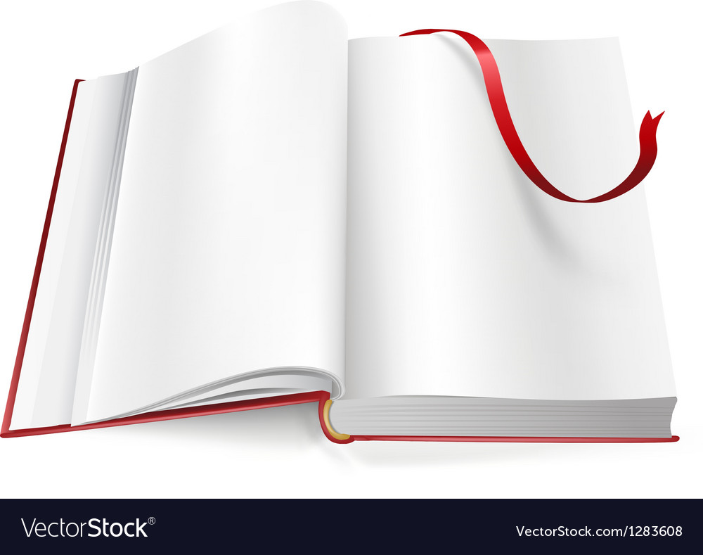 Book with blank pages and sign vector | Price: 1 Credit (USD $1)